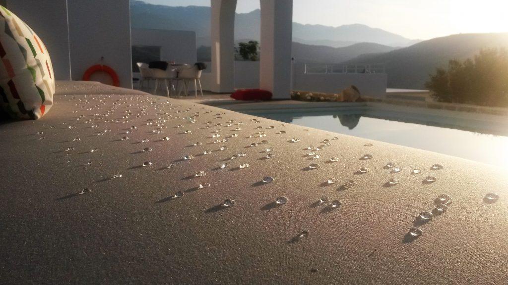 Galini Breeze morning dew at the pool